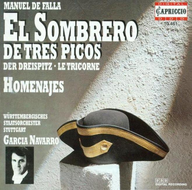Falla, M.: 3-cornered Hat (the) / Homenajes / Danza (loa, Wurttemberg State Orchedtra, Navarro)