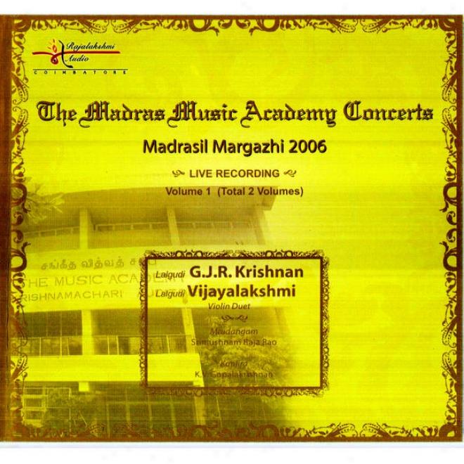 """Madrasil Margazhi �"""" 2006 �"""" La1gudi G.j.r.krishnan, Lalgudi Vijayalakshmi"""