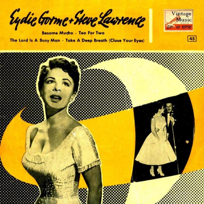 """vintage Vocal Jazz / Swing N⺠33 - Eps Collectors """"bã©same Mucho, Tea For Two"""