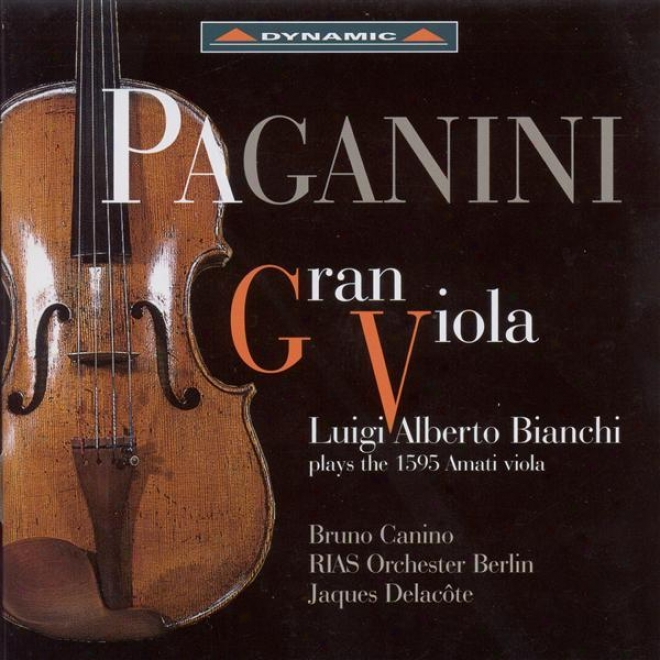 Viola Recital: Bianchi, Luigi Alberto - Paganini, N. / Kreisler, F. / Sarasate, P. (paganini Gran Viola - Bianchi Plays The 1595 A