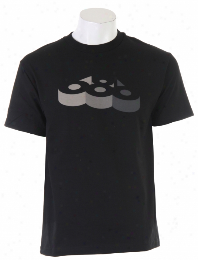 686 3d T-shirt Black