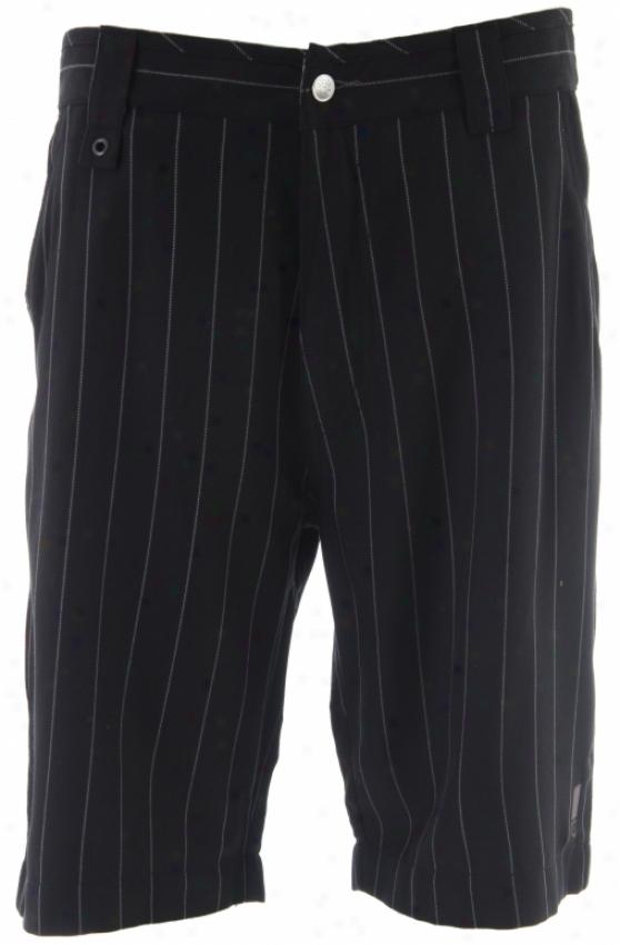 686 Splice Pinstripe Shorts Black