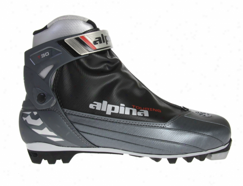 Alpina T30 Crosscountry Ski Boots Charcoal/silver/black