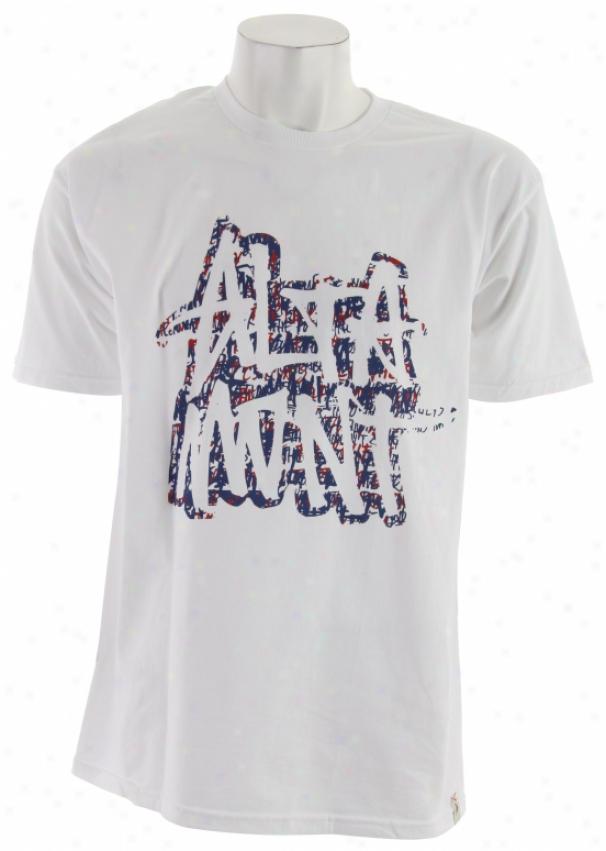 Altamont Unscribble T-shirt White/purple