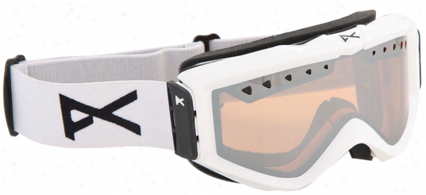 Anon Figment Snowboard Goggles Painted Mirror White