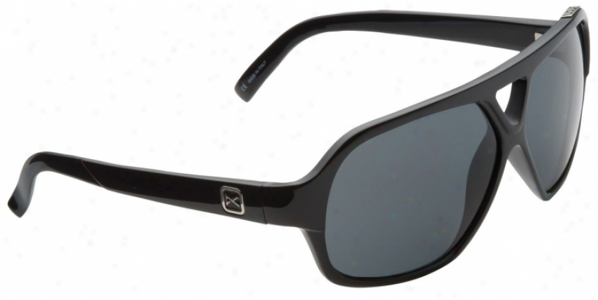 Soon Shocker Sunglasses Black/grey Lens