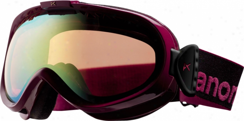 Anon Solace Painted Snowboard Goggles Sangria/gold Crhome Lens