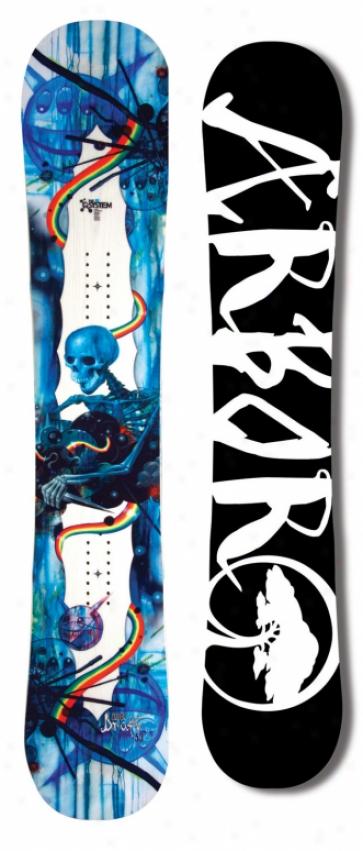 Arbor Draft Snowboard White/blue 143