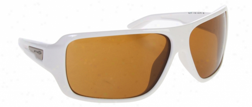 Armette Bluto Sunglasses Gloss White/brown Lens