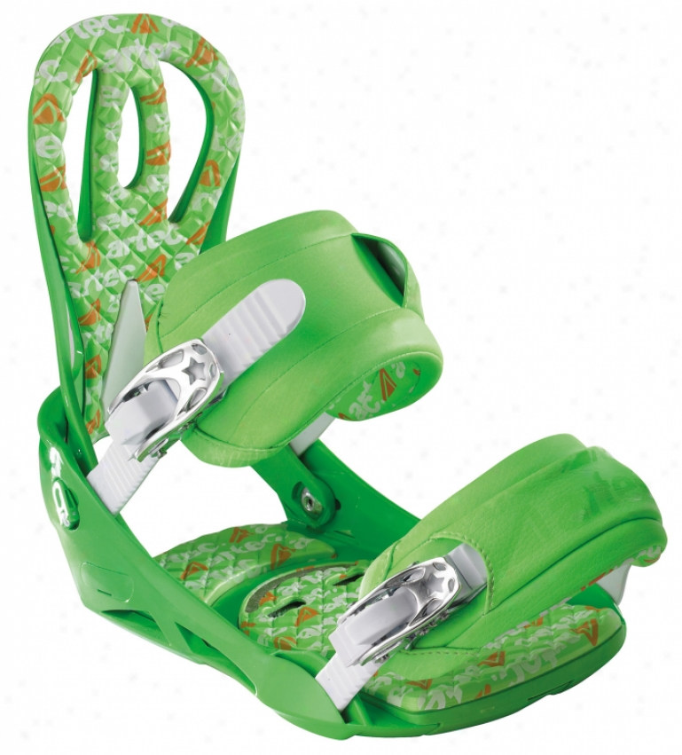Artec Matrix Snowboard Bindings Green