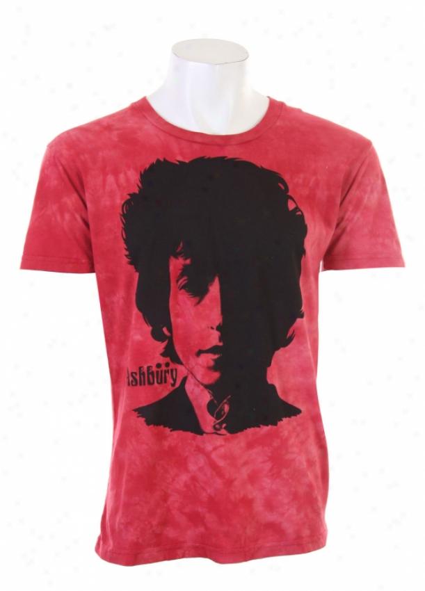 Ashbury Visions Of Johanna T-shirt Red Wash