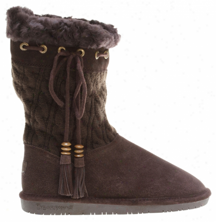 Bearpaw Constantine Solid Knit Casual Boots Chocolate