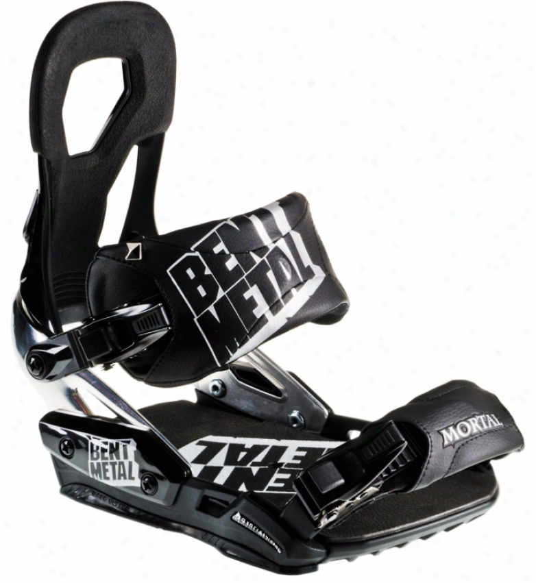 Bent Metal Mortl Snowboard Bindings Black/silver