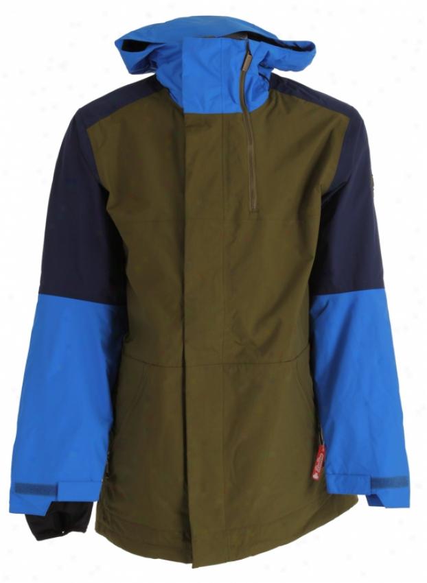 Bonfire Blur Snowboard Jacket Herbe