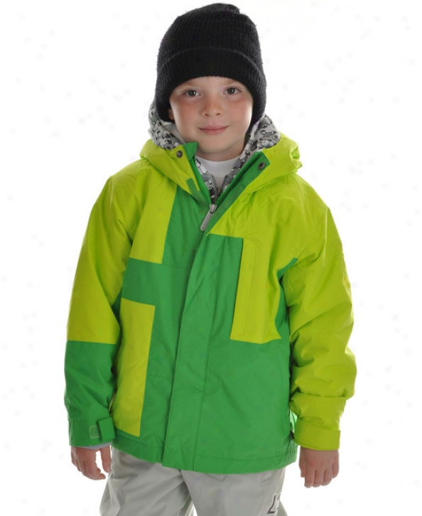 Bonfire Exchange Snowboard Jacket Emerald