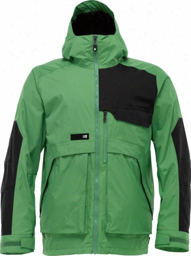 Burton 2l Goretex Andover Snowboard Jacket Astro Turf Colorblock