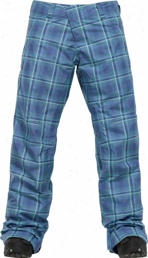 Burton Ak 2l Stratus Snowboard Pants Blue Shroom Mad Plaid