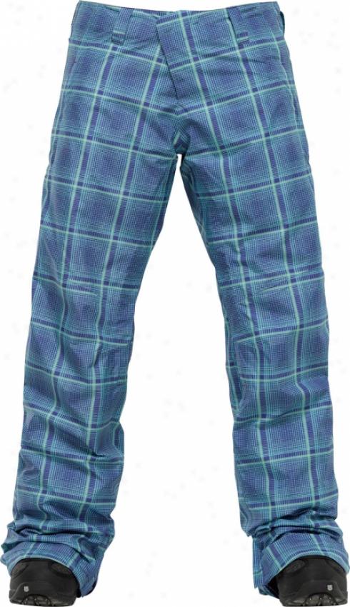 Burton Ak 2l Stratus Snowboard Pants Blue Shroom Mad Plaid