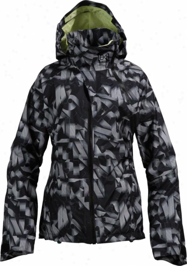 Burton Ak 2l Summit Snowboard Jacket Verbage Print