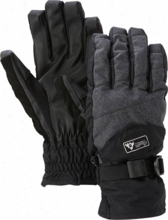 Burton Approach Attested by Snowboard Gloves True Black Herringbone
