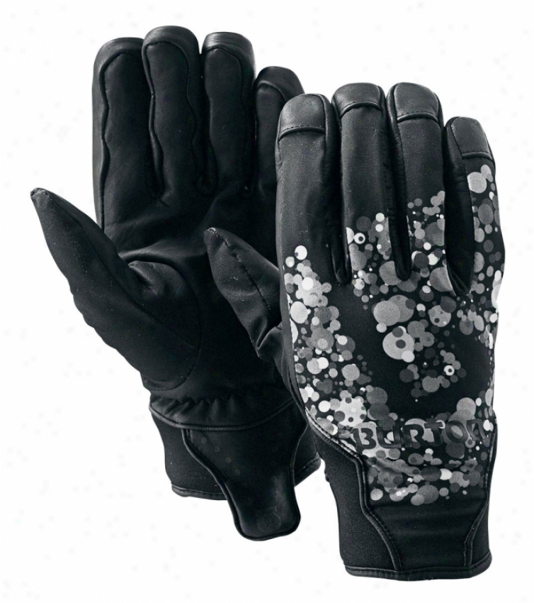 Burton Basic Leather Pipe Snowboard Gloves True Murky