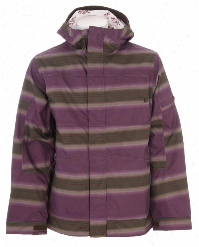 Burton Cosmic Delight Snowboard Jacket Mocha Faded Stripe Print