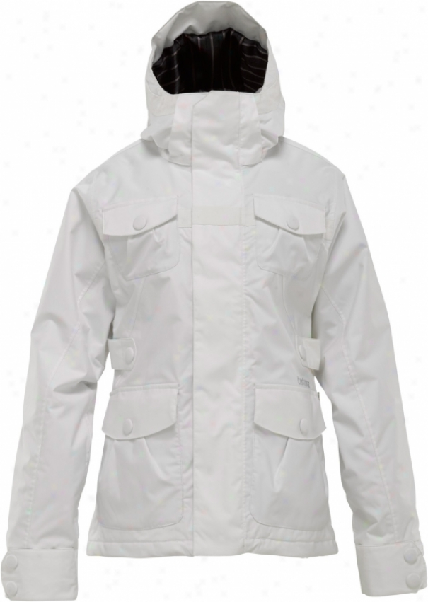 Burton Delirium Snowboard Jacket Bright White
