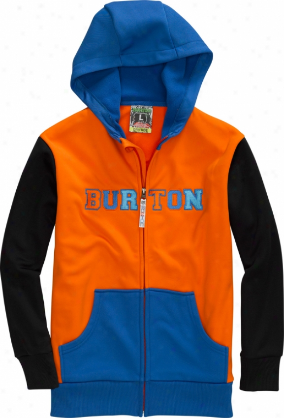 Burton Fate Bonded Hoodie Orangeman Colorblock