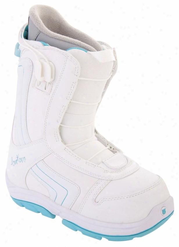 Burton Emerald Smalls Snoqboard Boots White/light Blue