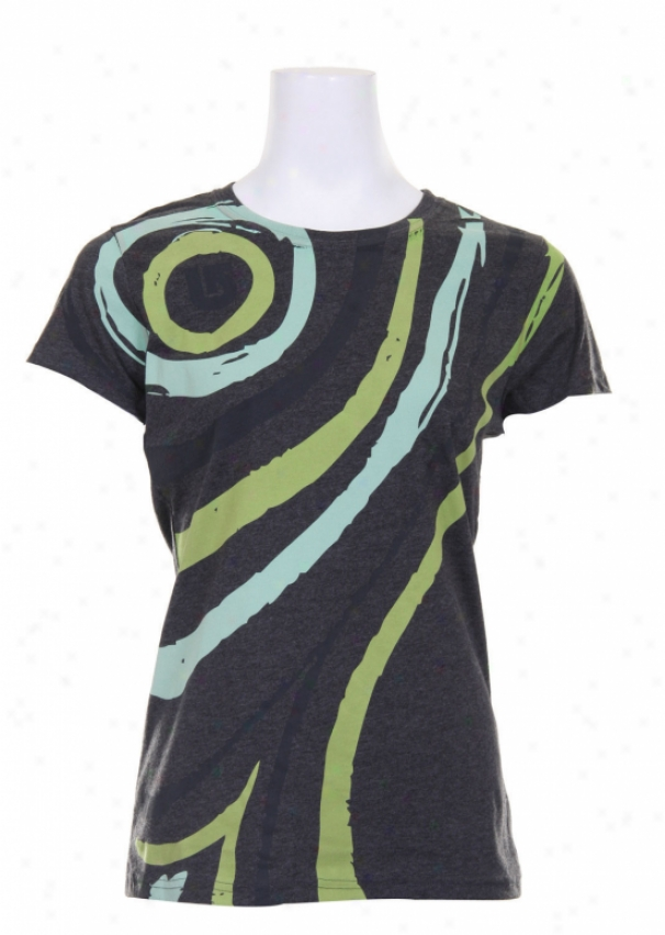 Burton Flowz T-shirt Ture Black Heather