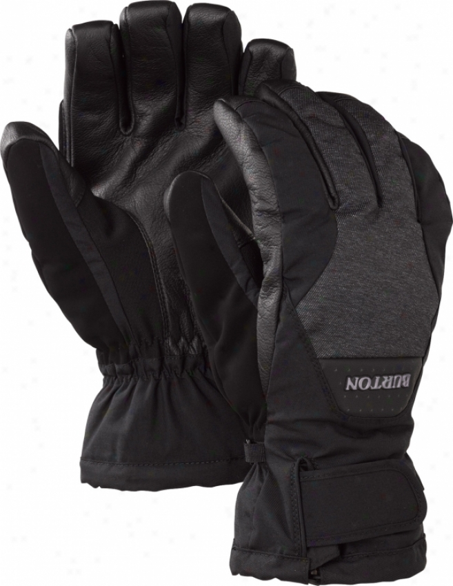 Burton Goretex Leather Snowboard Gloves True Black