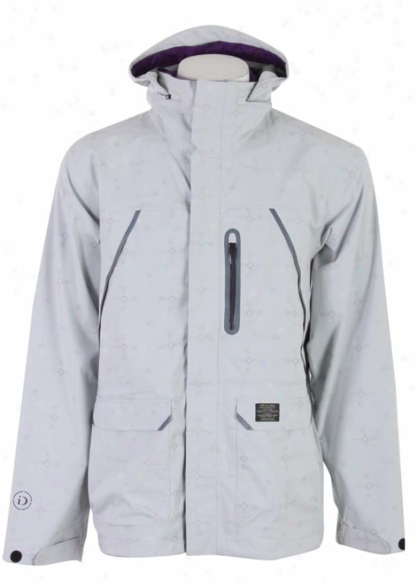 Burton Idiom 2.5l Jacket Id Print Smoke