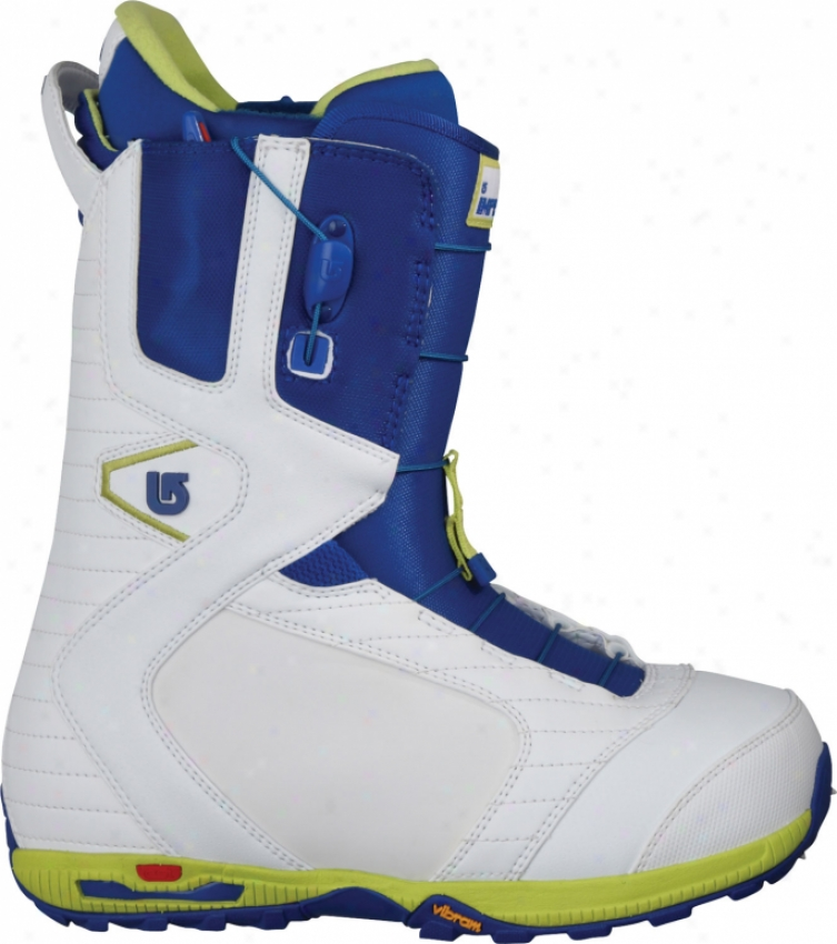 Burton Imperial Snowboard Boots White/blue/lime