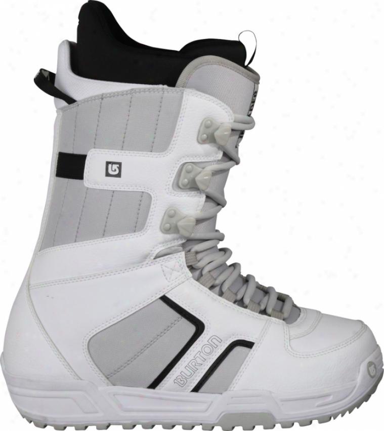 Burton Invader Snowboard Boots White/black