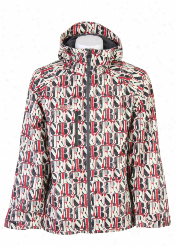 Burton Launch Snowboare Jacket Afterglow Hanging platform Of Words Print