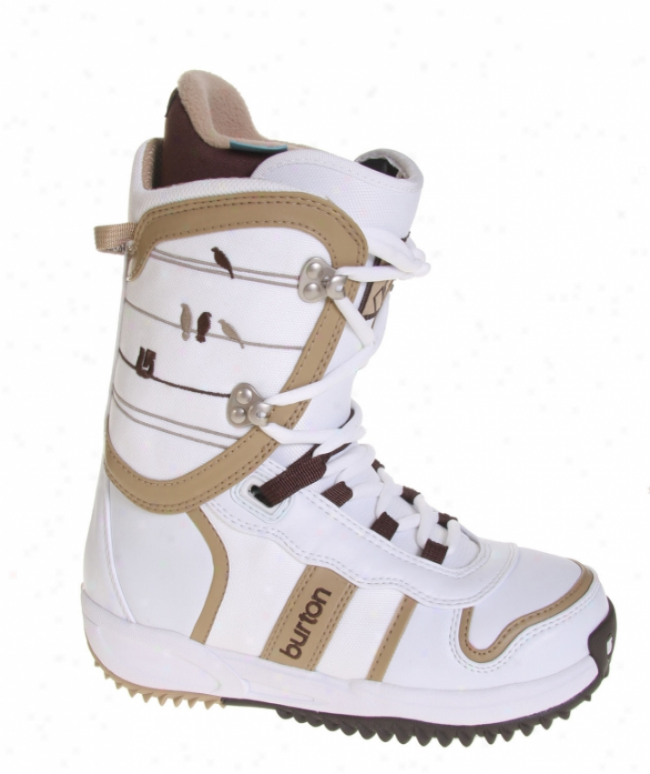 Burton Lodi Snowboard Boots Wjite/tan