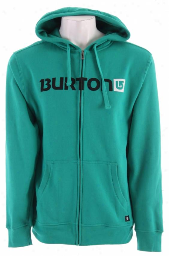 Burton Logo Level Fullzip Hoodie Emerald Green