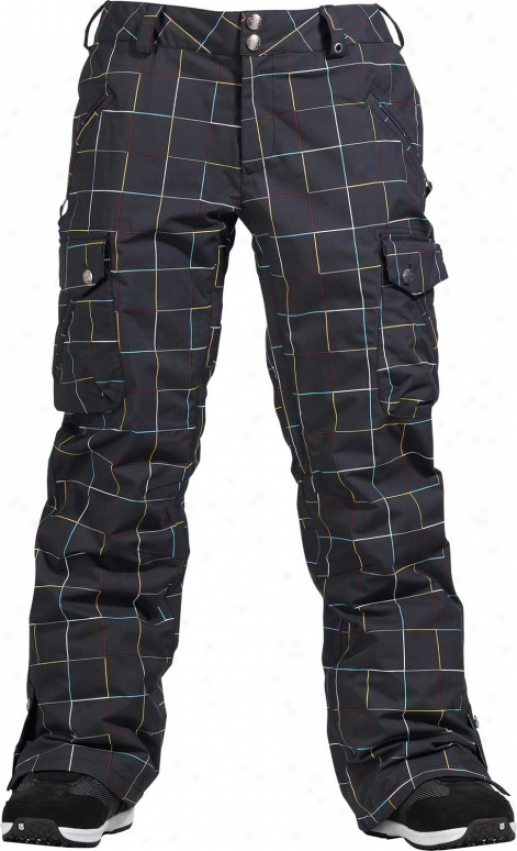 Burton Lucky Snowboard Pants Gridline Yes Black