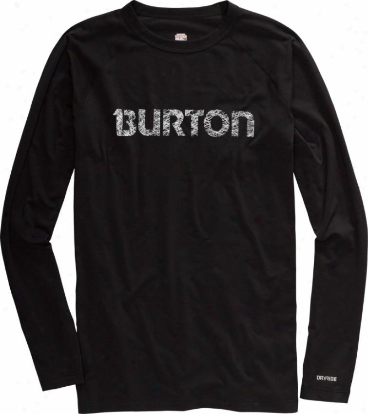 Burtoon Midweight Crew First Layer Shirt True Black