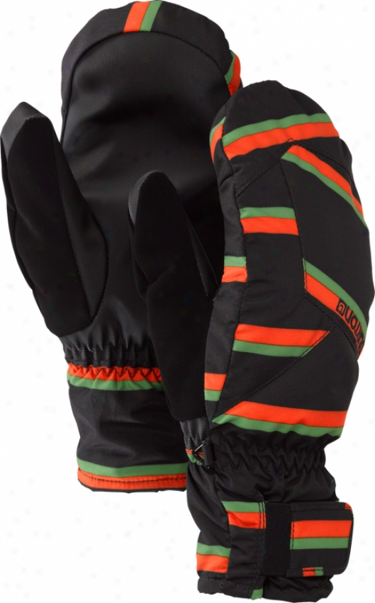 Burton Profile When exposed to Snowboard Mitts True Black Marcos Stripe