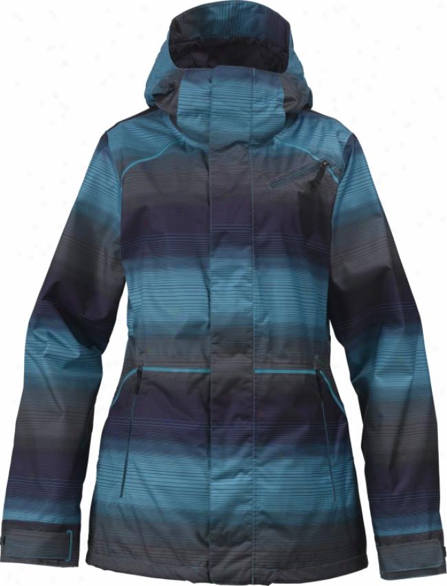 Burton Prowess Snowboard Jacket Vista Lawn Gradiated Stripe Print
