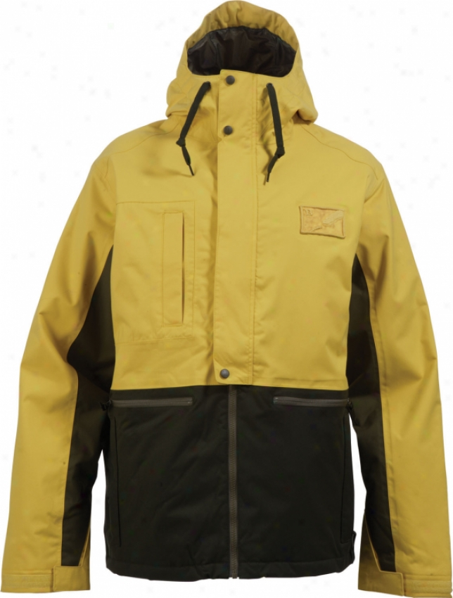 Burton Retsricted Ratched Snowboard Jacket Defective Yellow