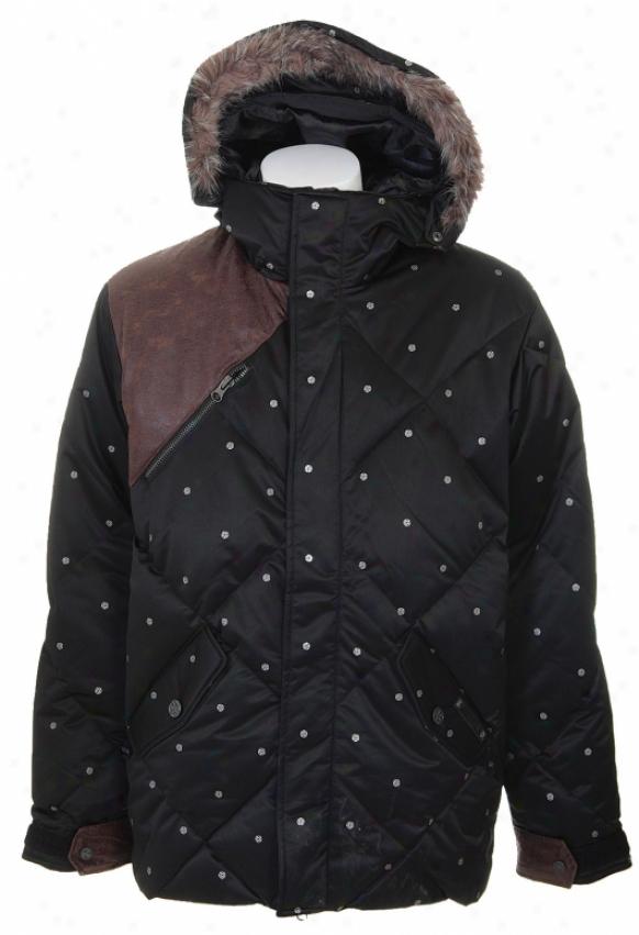 Burtin Ronin Audio Stroll Down Snowboard Jacket True Black