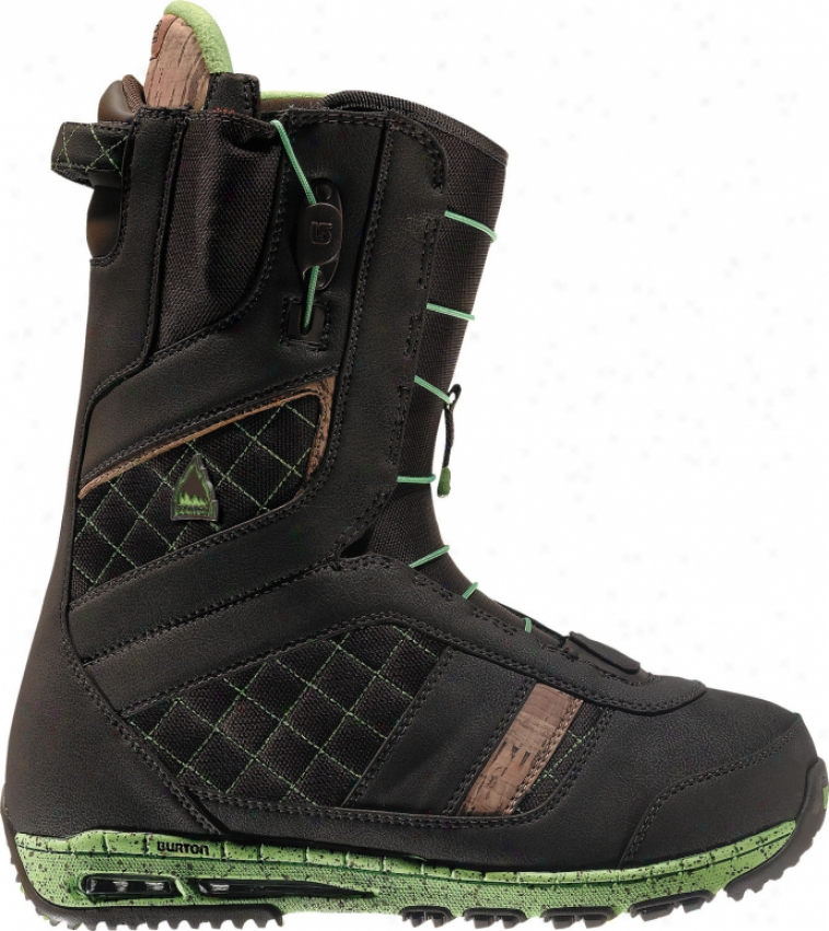 Burton Ruler Snowboard Boots Brown/lime