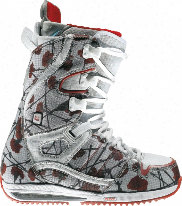 Burton Sapphire Snowboard Boots Flowers On Canvas