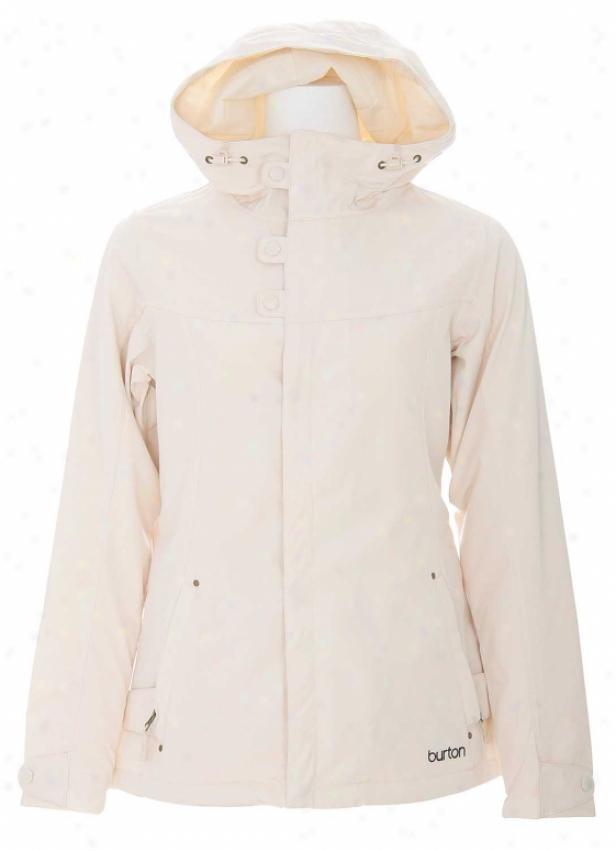 Burton Society Snowboard Jacket Antique Ivory