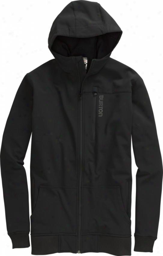 Burton Softshell Hoodie Snowboard Jacket True Black