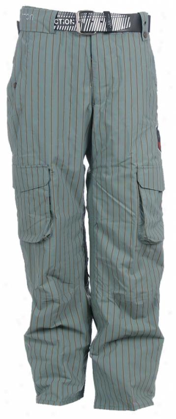 Burton Sw Cargo Print Snowboard Pants Roasted Brn Pinstripe