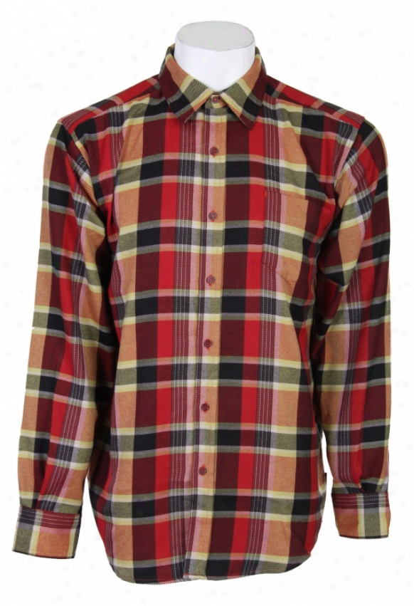 Burton Tech Flannel Shirt Redical Metro Pld