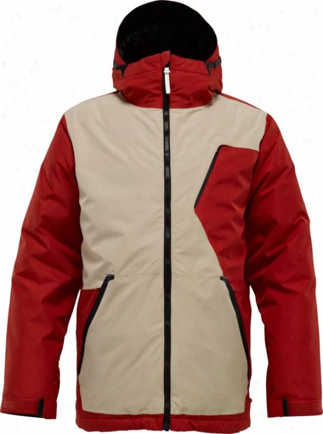 Burton Terminal Down Snowboard Jacket Code Red/chino/true Black